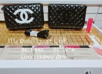 Chanel Beauty Accessory - Belt trám nhám logo trắng