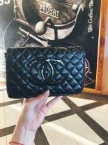 Chanel Beauty Accessory - Belt trám nhám logo đen